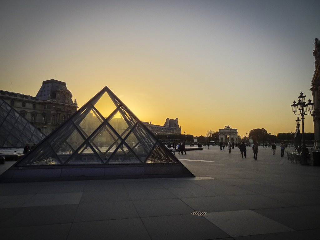 SUNSET BEHIND THE PYRAMID